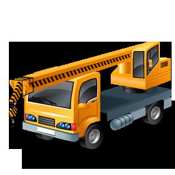 иконка truck mounted crane, кран, кран манипулятор, машина, автомобиль,