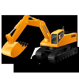 иконки excavator, экскаватор, машина,