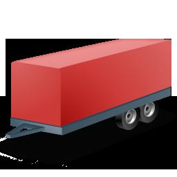 иконка trailer, прицеп,