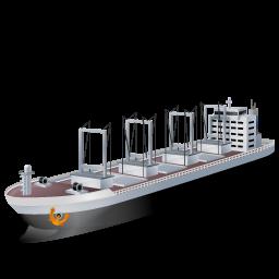 иконка cargo ship, корабль, грузовое судно,