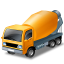 иконка mixer truck, автобетоносмеситель, бетономешалка, машина, автомобиль,