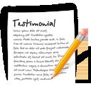 иконки  testimonial, характеристика, документ, текст,