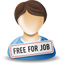 иконка free for job, работа, человек,