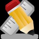иконка applications, приложение, карандаш, линейка,