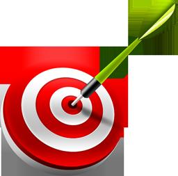 иконка target, dart, дартс, цель, мишень,