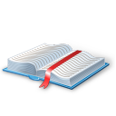 иконка book, книга, учебник, закладка,