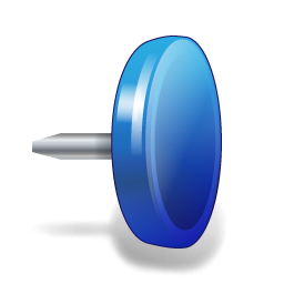 иконки drawing pin, кнопка,