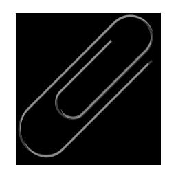 иконки paper clip, скрепка,