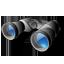 иконки binoculars, бинокль,