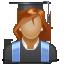 иконки user, woman, юзер, пользователь, женщина, студентка,