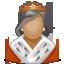 иконки user, woman, юзер, пользователь, женщина, королева,