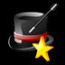 иконка wizard, волшебник, визард, фокус, шляпа,