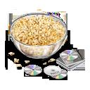 иконки просмотр фильмов, попкорн, диски, film,