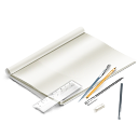иконки scetchbook, книга, рисование, ручки, набор дизайнера,