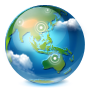 иконки  browser, браузер, интернет, планета, internet,