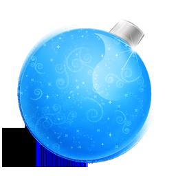 иконки Christmas, ball blue, новогодний шар, елочная игрушка,