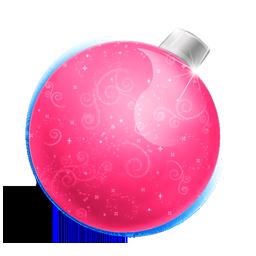 иконки Christmas, ball pink, елочная игрушка, новый год, новогодний шар,