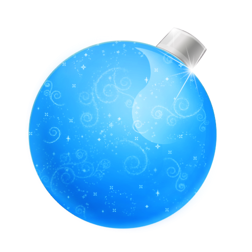 иконка Christmas, ball blue, новогодний шар, елочная игрушка,