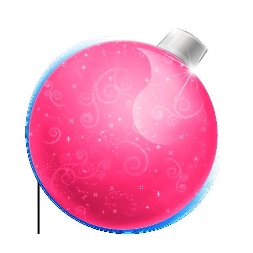 иконка Christmas, ball pink, елочная игрушка, новый год, новогодний шар,