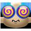 иконка Dizzy, головокружение, смайлик, смайл, smile,