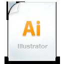 иконки illustrator, файл, иллюстратор,