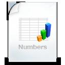 иконки numbers, файл, графики, график,