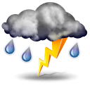 иконки гроза, погода, дождь, осадки, weather,