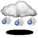 иконки снег с дождем, дождь со снегом, осадки, погода, weather,