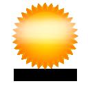 иконки солнечно, солнце, погода, weather,