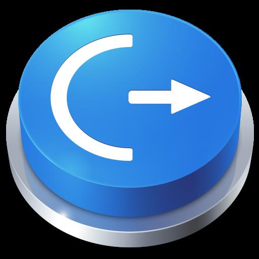 иконки Button, Logoff, кнопка, выход,
