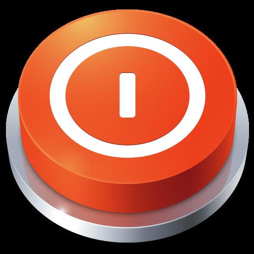 иконки Button, Shutdown, кнопка, выключение,