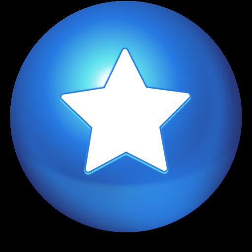 иконки Cute Ball, Favorites, избранное, звезда,
