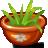 иконки grass, трава, горшок, цветок, цветочный горшок,