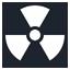 иконка nuclear, радиация,