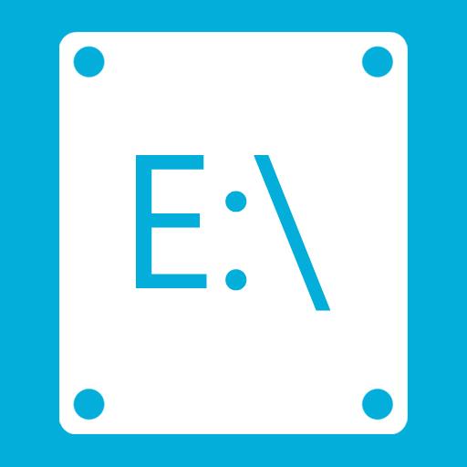иконка E,