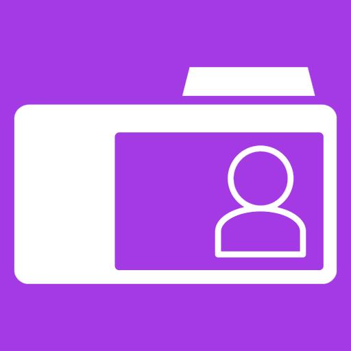 иконки Contacts Folder, папка, контакты,