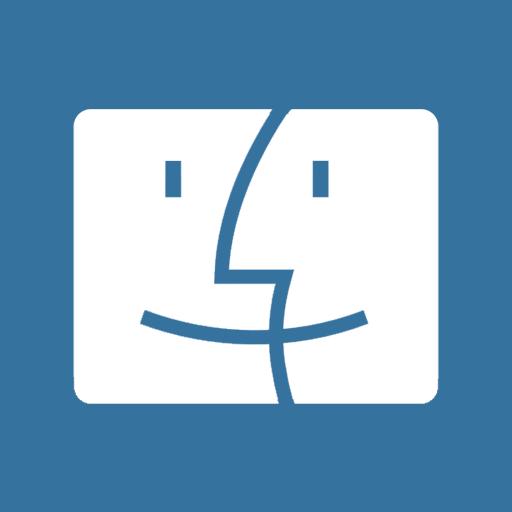 иконки Mac Finder,