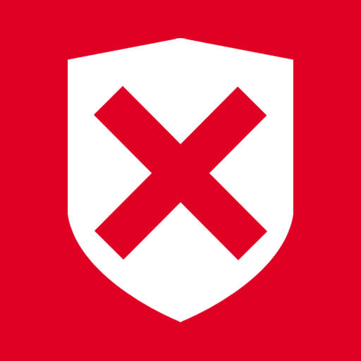 иконка Security Denied, безопасность, под угрозой,