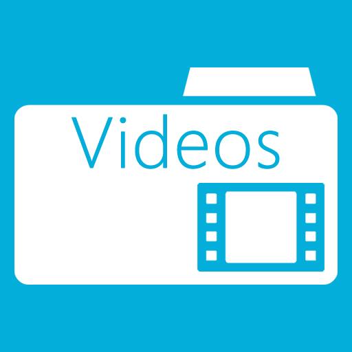 иконки  Videos Folder, мое видео, мои видеозаписи, папка,
