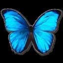 иконки Morpho Menelaus, бабочка, butterfly,