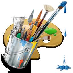 иконки graphics, painting, рисование, кисточки, художник,