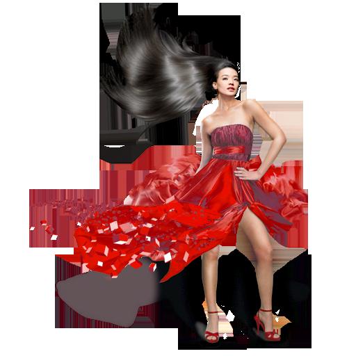 иконки girls, red dress, девушка, женщина, платье,