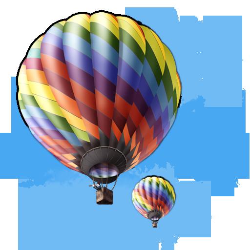 иконки balloon, воздушный шар, аэростат,