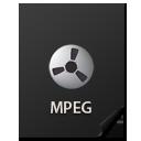 иконки Files, MPEG, файл,