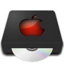 иконки DVD Drive, Apple, дисковод,