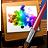 иконки кисточка, картинка, изображение, абстракция, image,