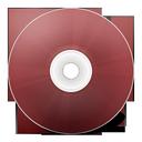 иконка CD rouge, диск, болванка,