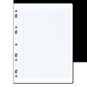иконки feuille, листочек, лист в клеточку, тетрадный лист,