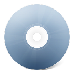 иконка CD avant bleu, диск, болванка,