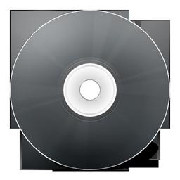 иконка CD noir, диск, болванка,